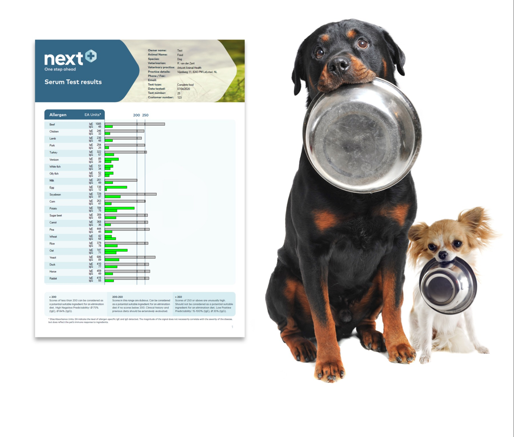 Next+ Food Reactivity Test – Now with Duck, Rabbit and Horse